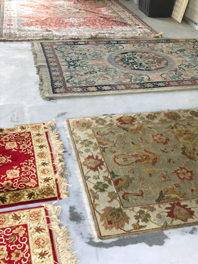 Area rugs cleaned